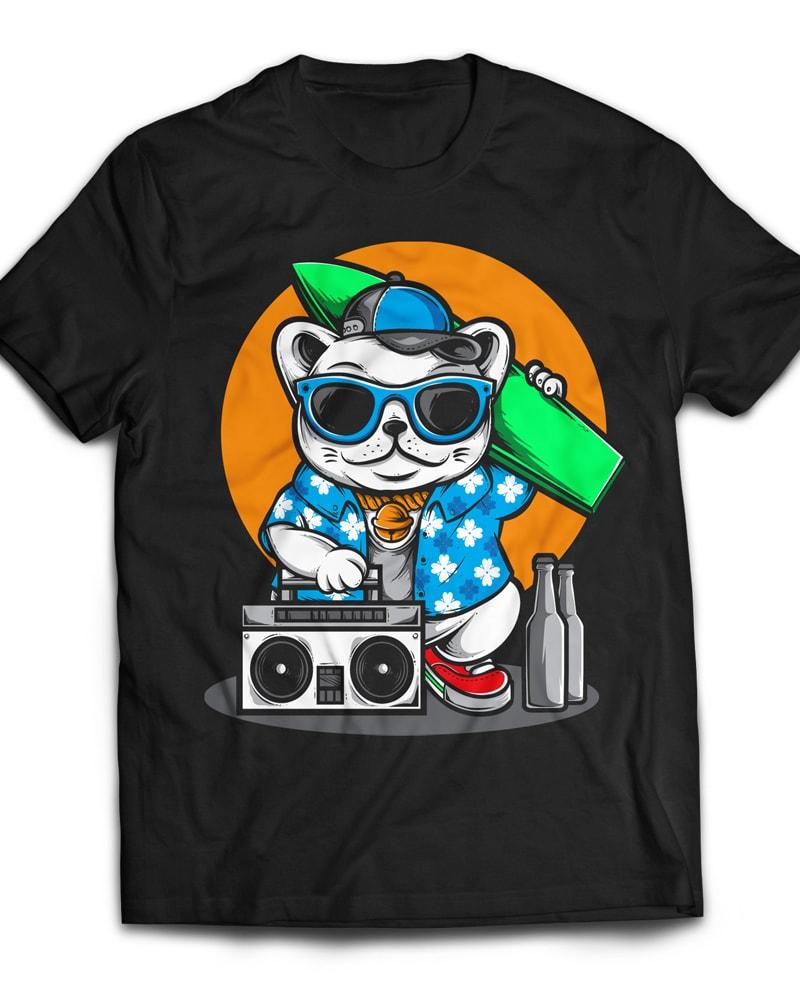 Surfing Cat buy t shirt design