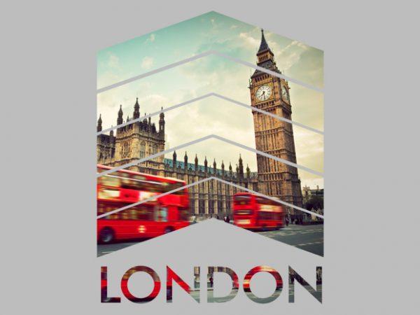 London Arrows t shirt vector graphic