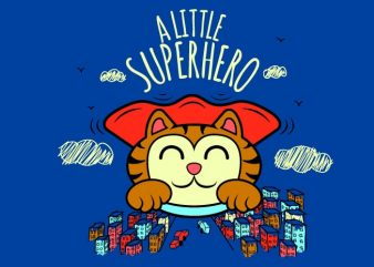 a little superhero t shirt vector