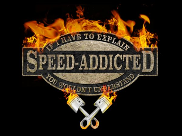 Speed Addicted t shirt template vector