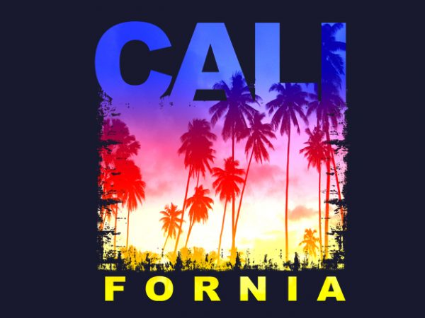 California t shirt vector file