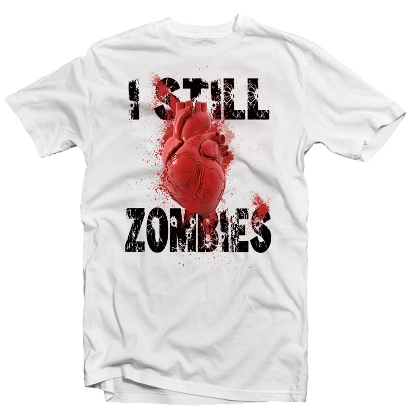 I Love Zombies buy t shirt design