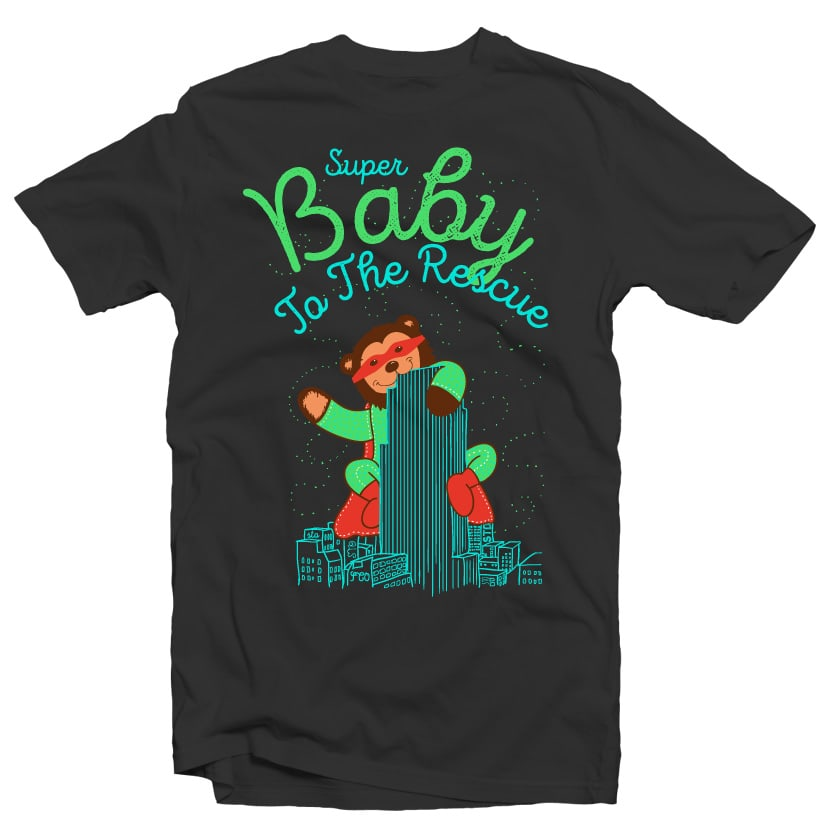 Super Baby to the Rescue buy t shirt design