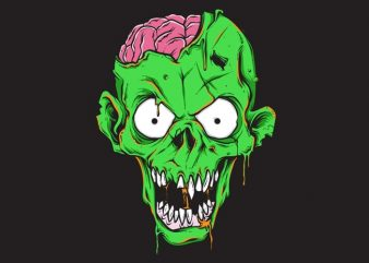 zombie t shirt graphic design