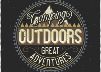 Camping label t shirt vector file