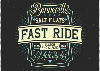 Motorcycles label t shirt designs for sale
