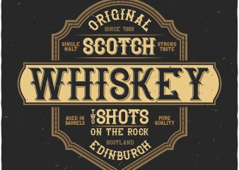 Whiskey label buy t shirt design