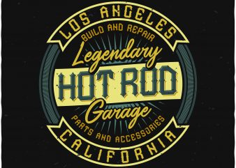 Hot rod garage graphic t shirt