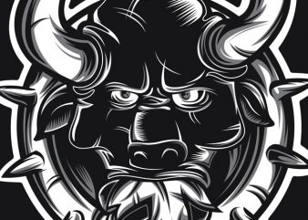 Crazy Bull buy t shirt design