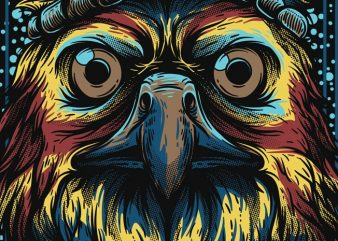 Mighty Eagle t shirt vector