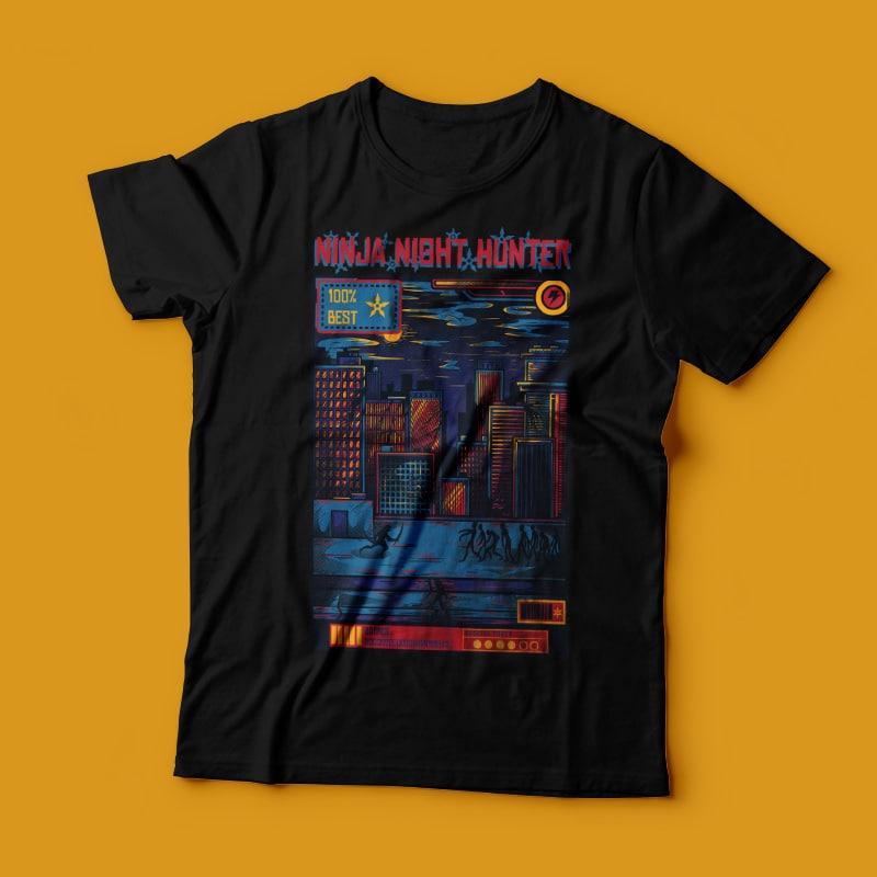 Ninja Night Hunter buy t shirt design