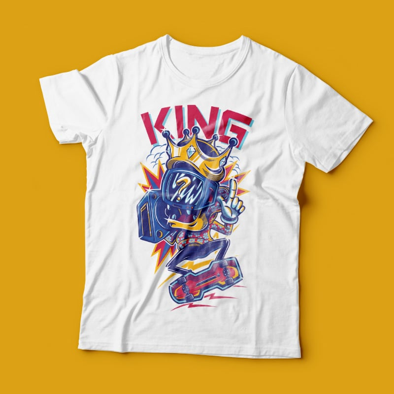 The King buy t shirt design