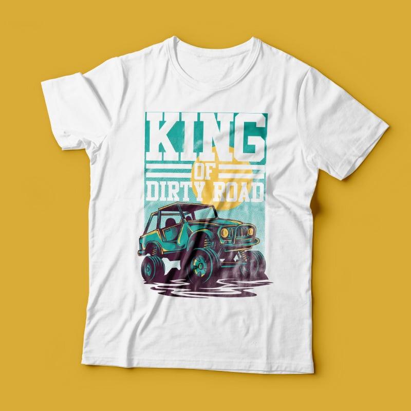King of Road buy t shirt design