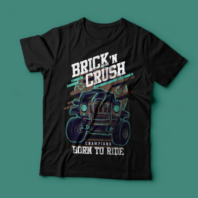 Brick n Crush buy t shirt design