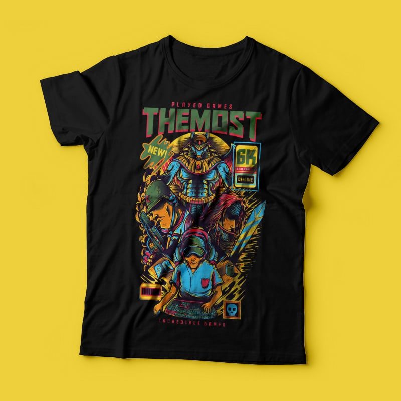 The Most Played Game buy t shirt design
