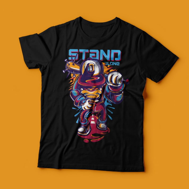 Stand Alone buy t shirt design