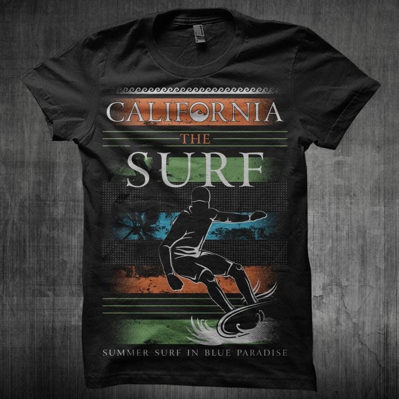 California The Surf buy t shirt design