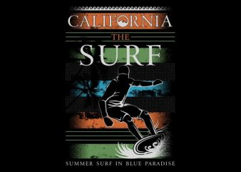 California The Surf buy t shirt design