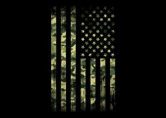 Camo Flag buy t shirt design