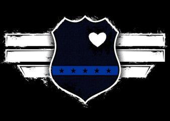 Captain The Blue Officer t shirt template
