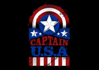 The Captain U.S.A t shirt template