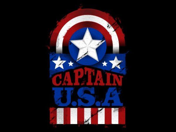 The Captain U.S.A t shirt designs for sale