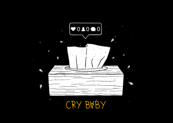 Cry baby buy t shirt design