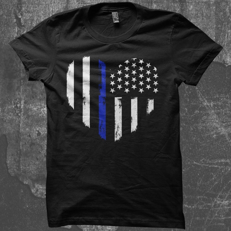Love Thin Blue Line buy t shirt design