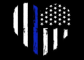 Love Thin Blue Line buy t shirt design