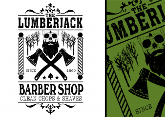 Lumberjack Barber Shop Tshirt Design buy t shirt design