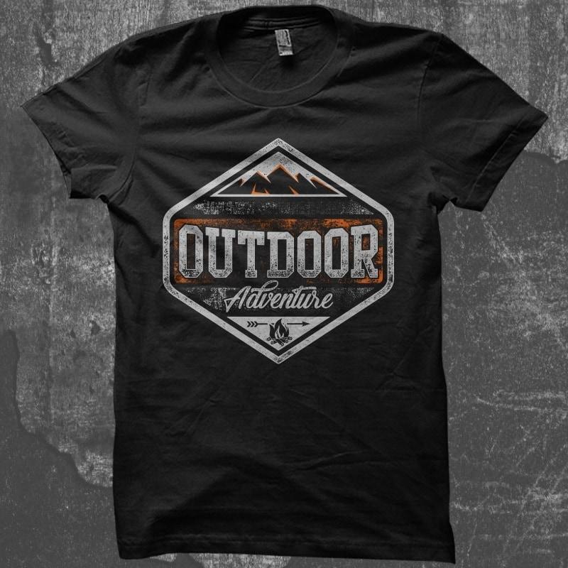 Outdoor Adventure buy t shirt design