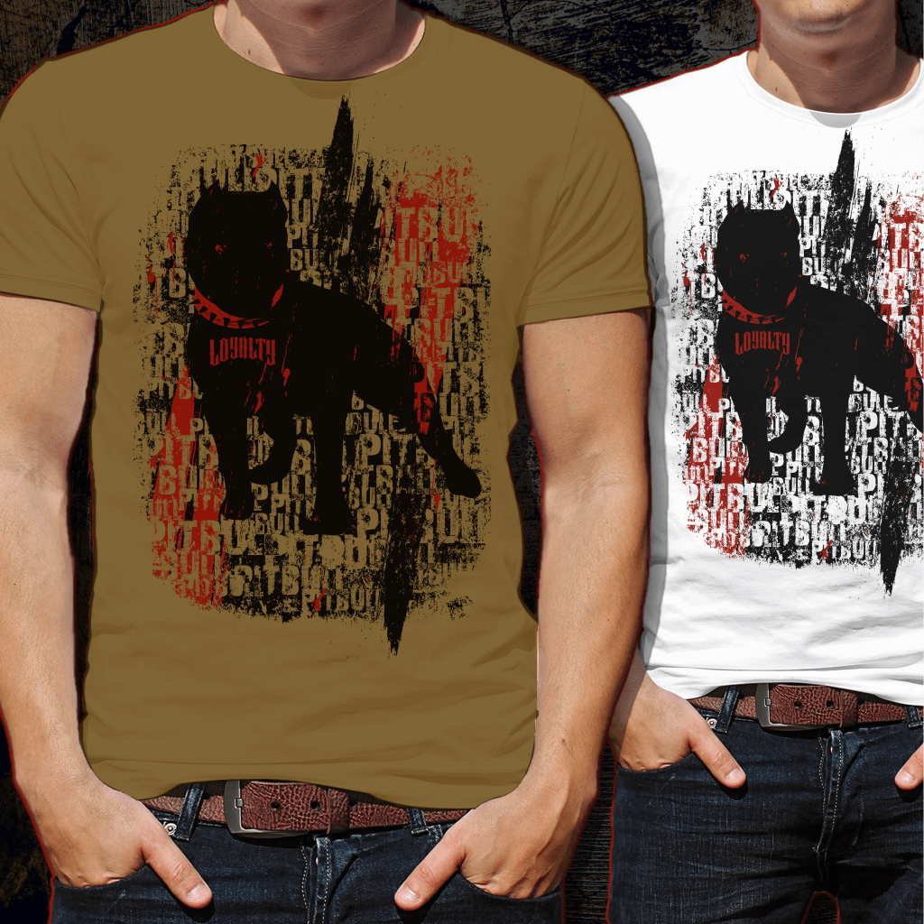 Pit Bull Trash Tshirt Design buy t shirt design
