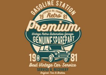 Premium Garage t-shirt design