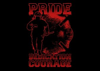 Pride Firefighter t shirt illustration
