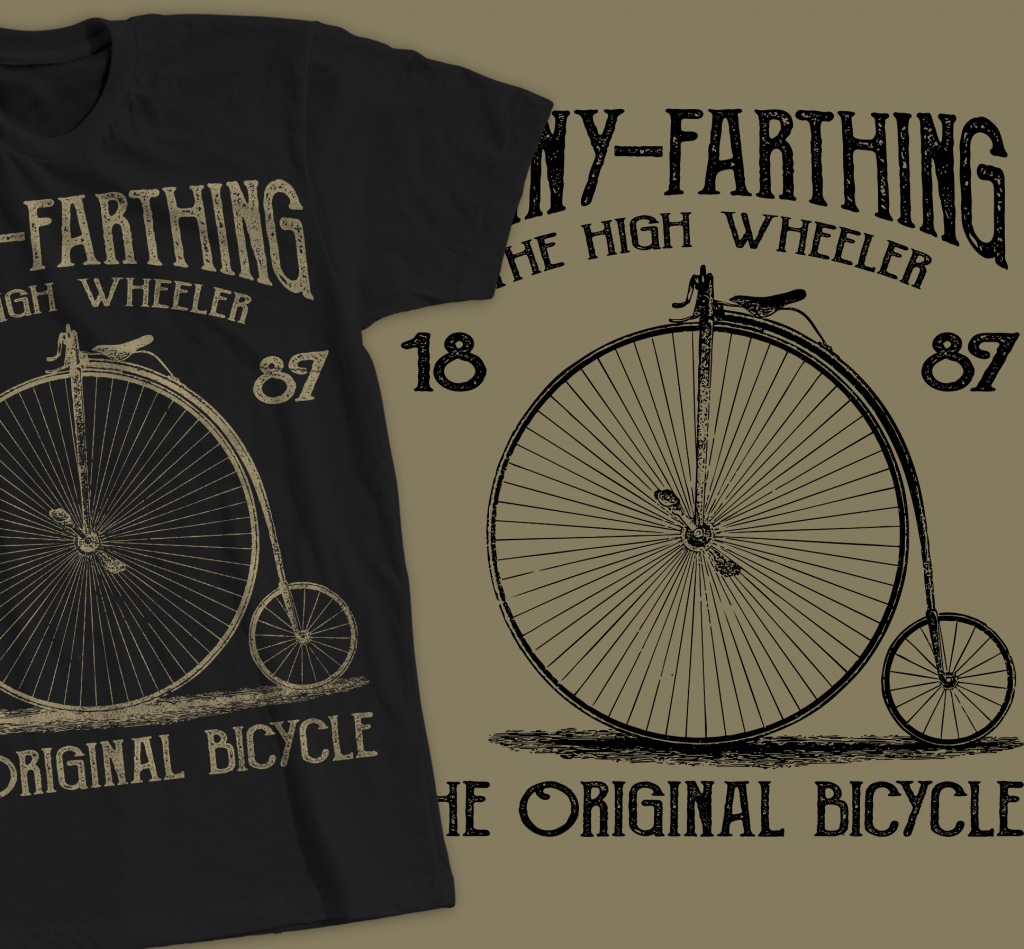 Penny-Farthing Vintage Bicycle Design buy t shirt design