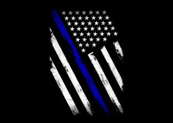 Thin Blue Line Flag t shirt template