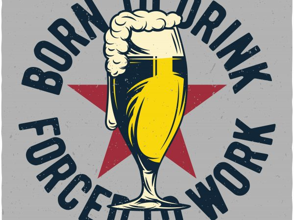 Beer glass t shirt template