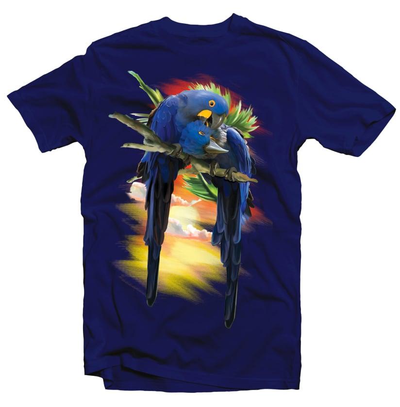 Blue Macaw buy t shirt design