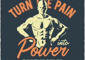 Turn the pain buy t shirt design