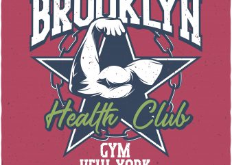Health club graphic t shirt