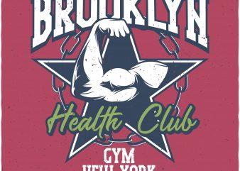 Health club buy t shirt design