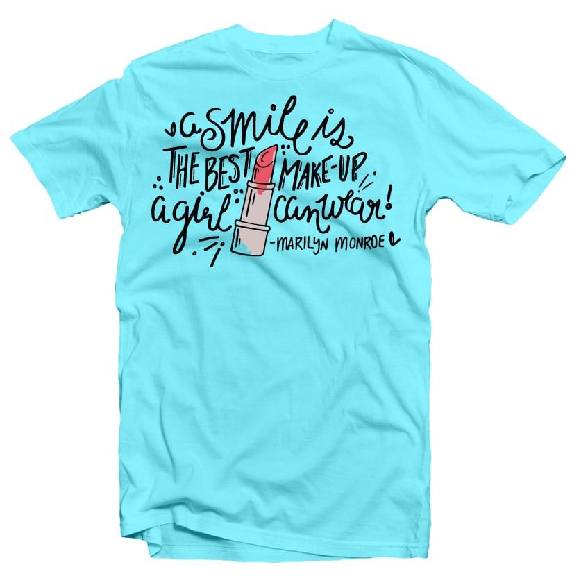 Make up Smile buy t shirt design