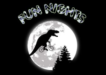 Fun Nights T-Rex t shirt graphic design