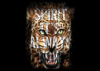 Spirit Leopard Head buy t shirt design