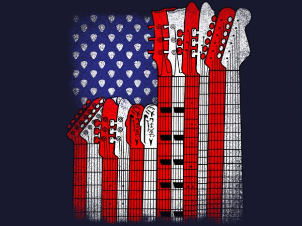 mocup 600x450 - Flag Usa Guitars buy t shirt design