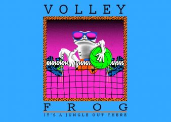 Volley Frog buy t shirt design