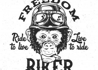 Monkey Biker buy t shirt design