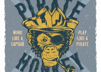 Monkey Pirate buy t shirt design