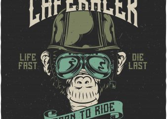 Monkey Caferacer buy t shirt design