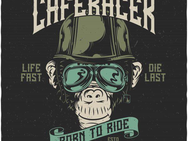 Monkey Caferacer buy t shirt design